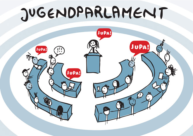 Illustration: Jugendparlament