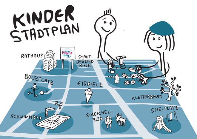 Illustration: Kinderstadtplan