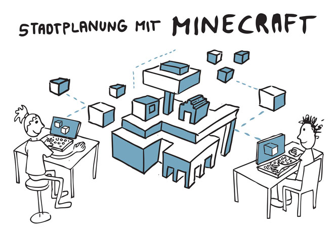Illustration: Computerspiel Minecraft